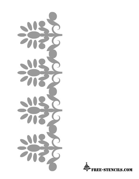 printable stencils border free printable border stencils