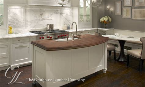 sink in island walnut wood countertop kitchen island in chicago