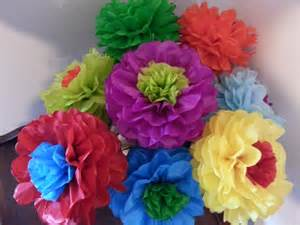 tissue paper flowers tissue paper flowers set of 8 tissue paper flower