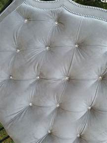 Gray Tufted Headboard Tufted Headboard King Gray Velvet Rhinestone Button N