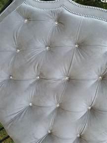 tufted headboard king gray velvet