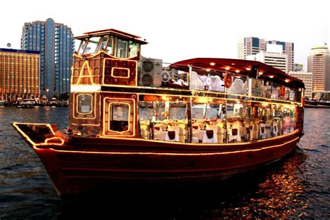boat cruise in dubai dubai 3 hour evening dhow boat cruise with dinner