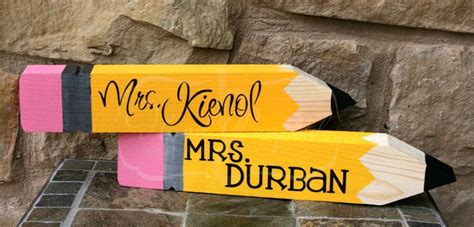 personalized teacher desk name plate wooden pencil desk name plate personalized great by