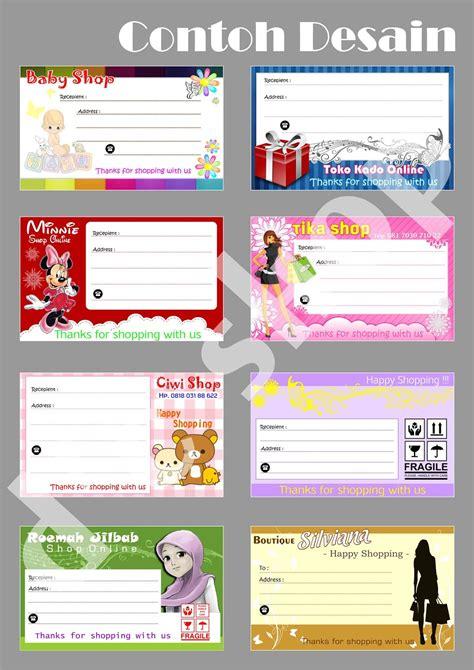 contoh desain kartu nama online shop d c shop online