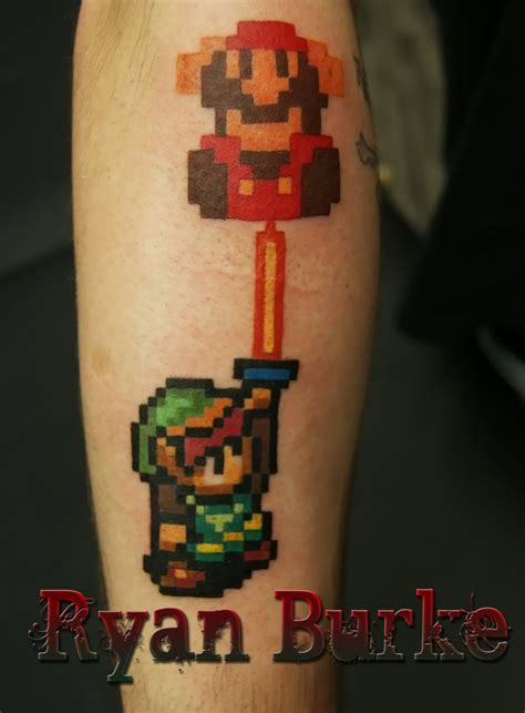 link and mario tattoo by filthmg on deviantart