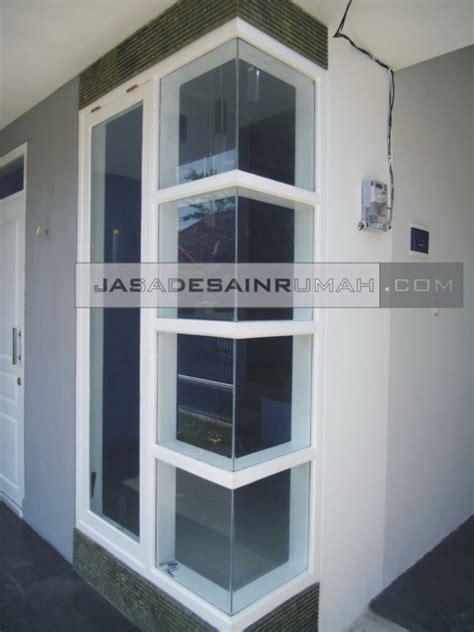 contoh desain kusen jendela sudut  tampak rumah simple minimalis  jasa desain rumah