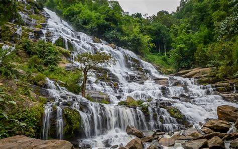 The Wachirathan Waterfall Doi Inthanon National Park