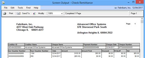 Address Check Adding The Vendor S Address To The Check Remittance Microsoft Dynamics Gp Community
