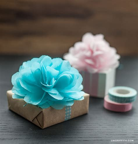 How To Make A Small Tissue Paper Flower - how to diy paper flower for gift packaging fab diy