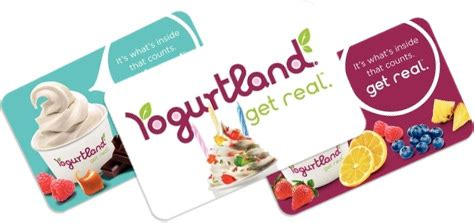Yogurtland Gift Card Value - yogurtland gift card