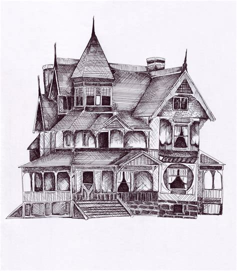 Victorian House Drawings by Victorian House Sketches Victorian House Drawing