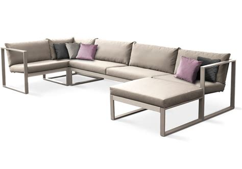 lounge sectional sofa sled base sectional batyline 174 sofa modular lounge teak by
