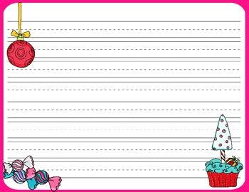 printable writing paper for christmas christmas writing paper free by scrapnteach teachers