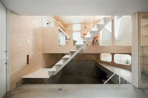 Herringbone House: Tiny Tokyo Residence Split into 7