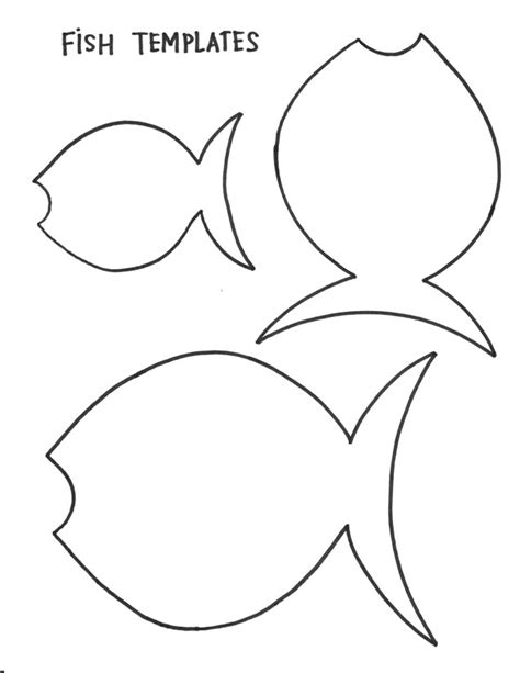 fish templates fish template for preschool az coloring pages