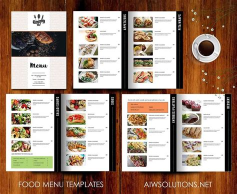 menu layouts templates 30 best food drink menu templates design shack