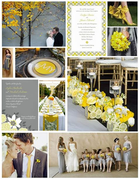 summer wedding colors slate grey lemon yellow williamssj wedding colors wedding gray
