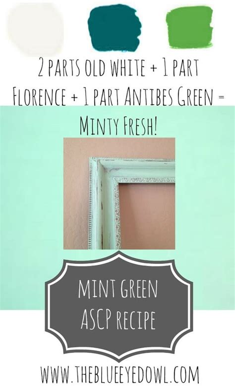 chalk paint 174 color recipe for mint green recipe via the blue eyed owl chalk paint 174 decorative