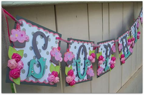 Handmade Birthday Banners - handmade banner custom made go green name banner by