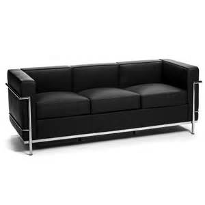 3 Seat Leather Sofa Le Corbusier Leather 3 Seat Sofa Buy Leather Sofas Living Room