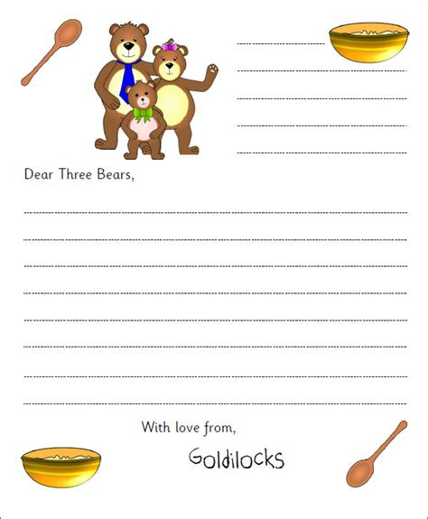 10 letter templates for kids free sle exle