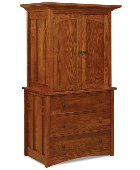 2 door armoire kascade 2 piece 3 drawer 2 door armoire amish direct furniture