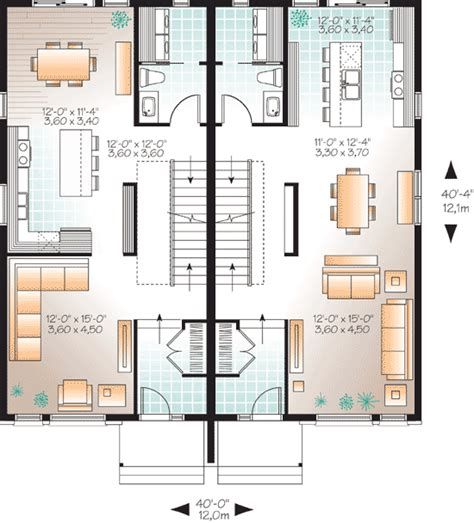 Modern Multi Family House Plans | contemporary multi family home 22328dr 2nd floor