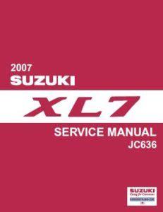 online service manuals 2007 suzuki xl7 engine control suzuki xl7 2007 jc636 series workshop service pdf manual