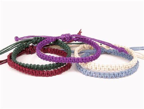 Macrame Knot Bracelet - hemp bracelet square knot macrame bracelet many color