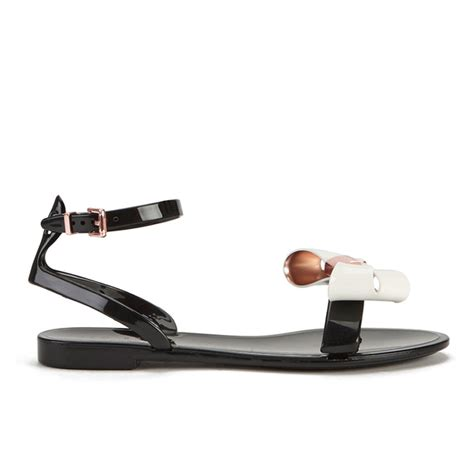 Ted Baker Jelly Sandal ted baker s louwla jelly bow ankle sandals black free uk delivery