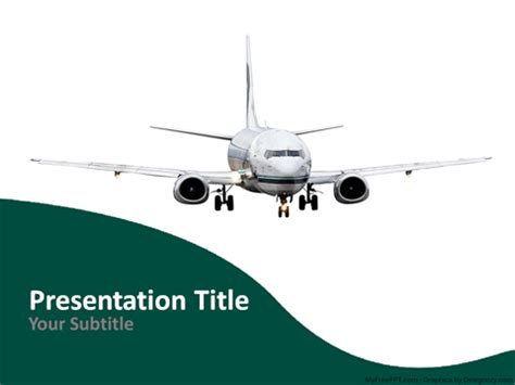 Free Air Transport Powerpoint Templates Themes Ppt Airline Ppt Template