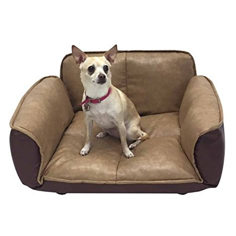 dog settee sofa spiffy pet products faux leather dog bed ideas