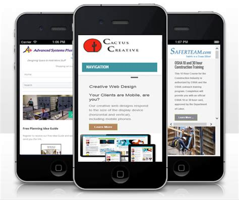 think mobile think quot mobile quot when designing company website