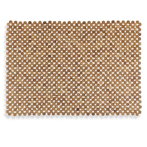bed bath and beyond shower mat mosaic bamboo mahogany tub mat bed bath beyond