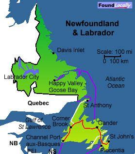 map of newfoundland and labrador canada newfoundland maps moving in canada