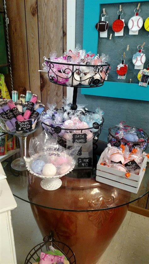 hamburg craft show bath bomb display at yours and vine in hamburg ar deer creek bath co bath bombs bath bath