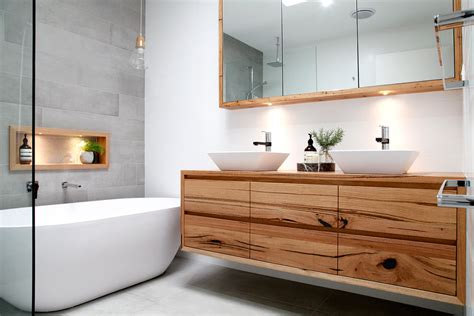Small Ensuite Bathroom Designs Ideas solid timber vanities bringing warmth to your bathroom