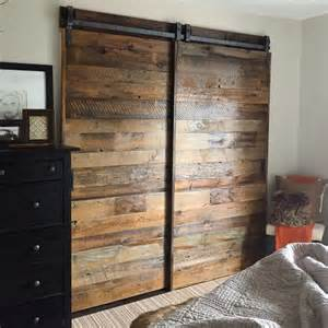Barn Doors For Closets Barn Doors For Closet In Master Bedroom They Are Sliding On Our Patent Pending Single Track