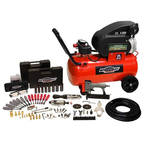 speedway 174 8 gallon air compressor with 77 pc air