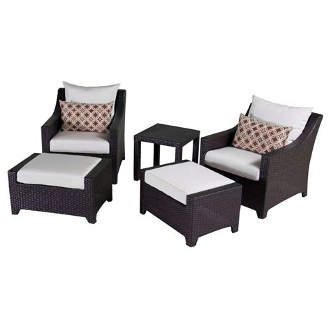 patio chair with ottoman set rst brands deco 5 piece patio club chair and ottoman set