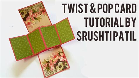 twisting pop up card template free twist pop card tutorial by srushti patil