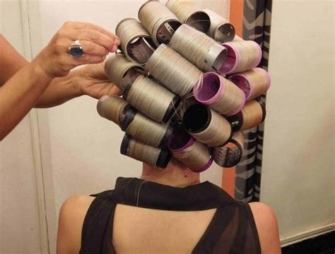 hot rollers with wet hair 126 best hair curlers images on pinterest roller set