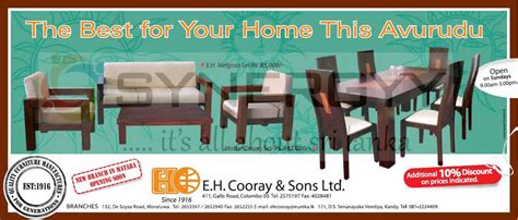 new year furniture sale e h cooray sons furniture for sale in this new year
