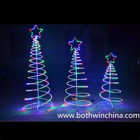 Spiral Tree Led - led rope spiral tree lights with ce rohs sgs