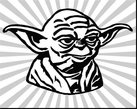 simple lego wars master yoda coloring page by yoda