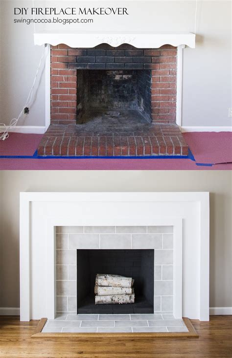 fireplace diy makeover swingncocoa diy fireplace makeover for 200 great