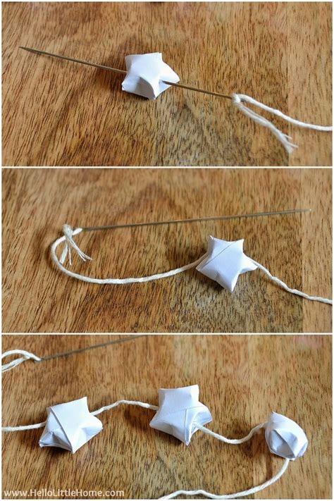 How To Make String On Paper - diy origami lucky garland
