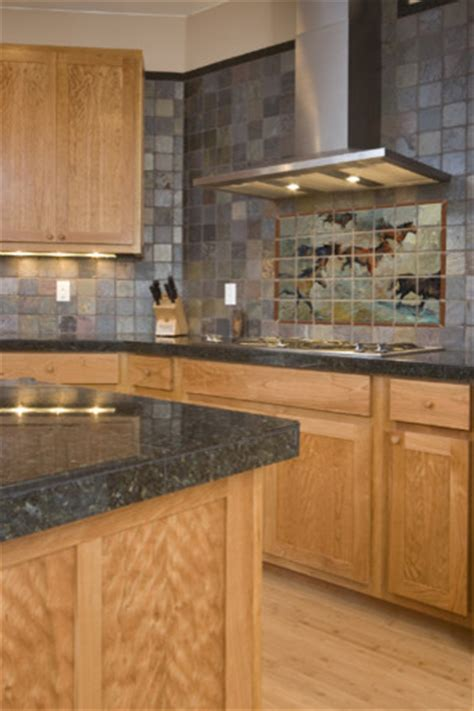 Plants Above Kitchen Cabinets by Western Tile Mural In Kitchen Traditional Kitchen
