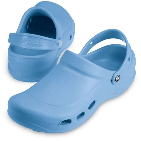 light comfortable work shoes crocs specialist clog vent light blue light and