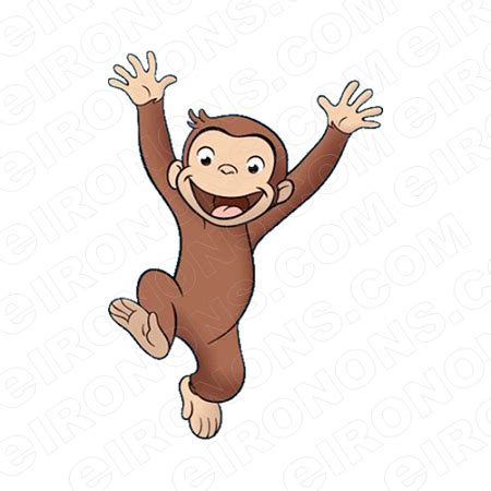 curious george clip curious george jumping character clipart png image
